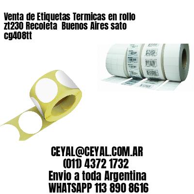 Venta de Etiquetas Termicas en rollo zt230 Recoleta  Buenos Aires sato cg408tt