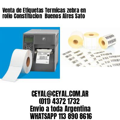 Venta de Etiquetas Termicas zebra en rollo Constitucion  Buenos Aires Sato