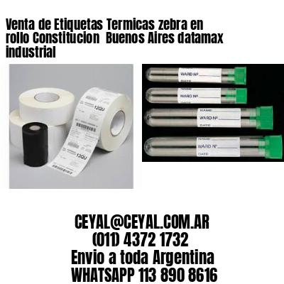 Venta de Etiquetas Termicas zebra en rollo Constitucion  Buenos Aires datamax industrial