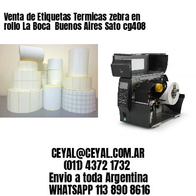 Venta de Etiquetas Termicas zebra en rollo La Boca  Buenos Aires Sato cg408