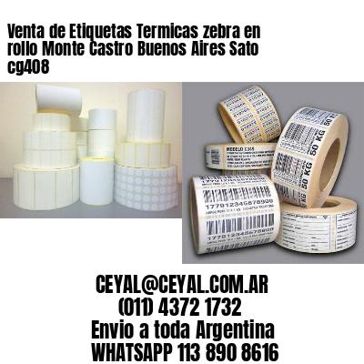 Venta de Etiquetas Termicas zebra en rollo Monte Castro Buenos Aires Sato cg408