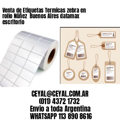 Venta de Etiquetas Termicas zebra en rollo Núñez  Buenos Aires datamax escritorio