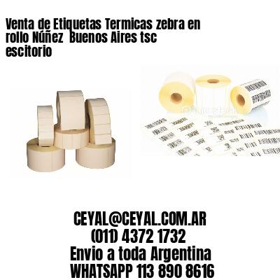Venta de Etiquetas Termicas zebra en rollo Núñez  Buenos Aires tsc escitorio