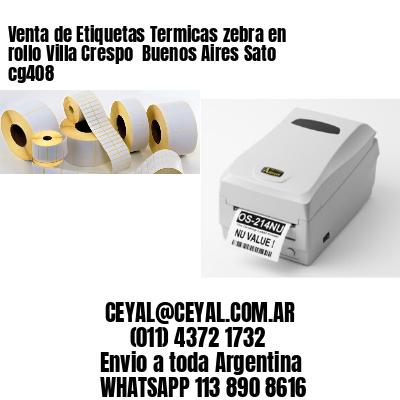 Venta de Etiquetas Termicas zebra en rollo Villa Crespo  Buenos Aires Sato cg408