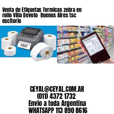 Venta de Etiquetas Termicas zebra en rollo Villa Devoto  Buenos Aires tsc escitorio
