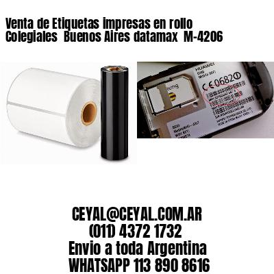 Venta de Etiquetas impresas en rollo Colegiales  Buenos Aires datamax  M-4206