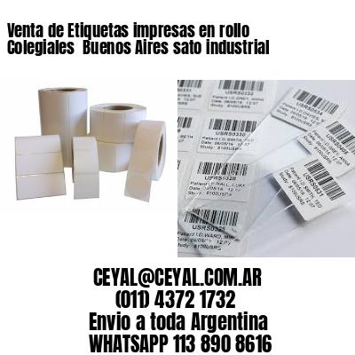 Venta de Etiquetas impresas en rollo Colegiales  Buenos Aires sato industrial