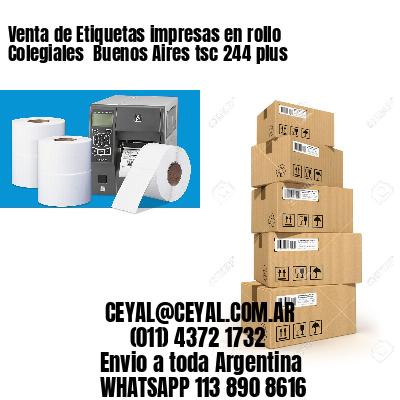 Venta de Etiquetas impresas en rollo Colegiales  Buenos Aires tsc 244 plus