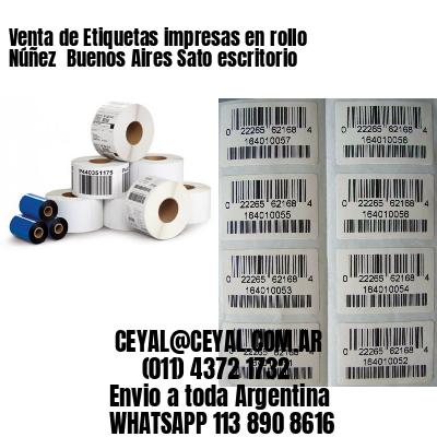 Venta de Etiquetas impresas en rollo Núñez  Buenos Aires Sato escritorio