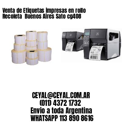 Venta de Etiquetas impresas en rollo Recoleta  Buenos Aires Sato cg408
