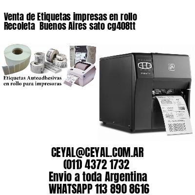 Venta de Etiquetas impresas en rollo Recoleta  Buenos Aires sato cg408tt