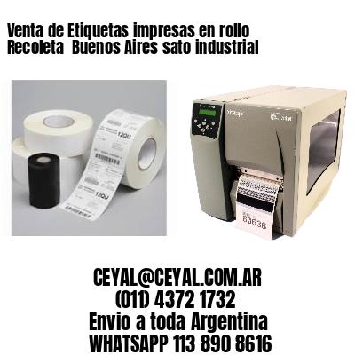 Venta de Etiquetas impresas en rollo Recoleta  Buenos Aires sato industrial