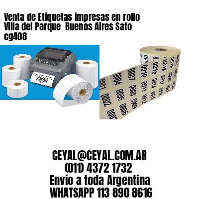 Venta de Etiquetas impresas en rollo Villa del Parque  Buenos Aires Sato cg408