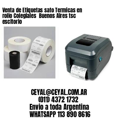 Venta de Etiquetas sato Termicas en rollo Colegiales  Buenos Aires tsc escitorio