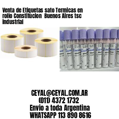 Venta de Etiquetas sato Termicas en rollo Constitucion  Buenos Aires tsc industrial