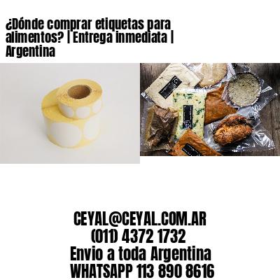 ¿Dónde comprar etiquetas para alimentos?   Entrega inmediata   Argentina