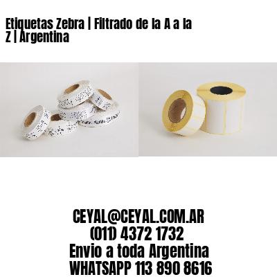Etiquetas Zebra   Filtrado de la A a la Z   Argentina