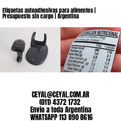 Etiquetas autoadhesivas para alimentos   Presupuesto sin cargo   Argentina