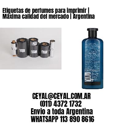 Etiquetas de perfumes para imprimir | Máxima calidad del mercado | Argentina