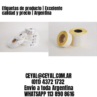 Etiquetas de producto   Excelente calidad y precio   Argentina