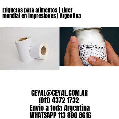 Etiquetas para alimentos   Líder mundial en impresiones   Argentina