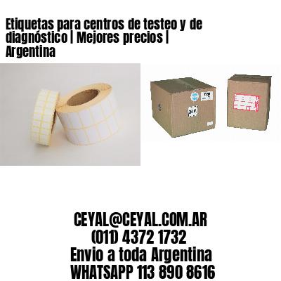 Etiquetas para centros de testeo y de diagnóstico | Mejores precios | Argentina