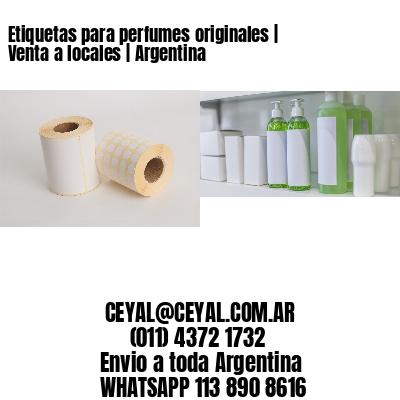 Etiquetas para perfumes originales | Venta a locales | Argentina