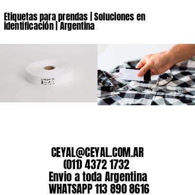 Etiquetas para prendas | Soluciones en identificación | Argentina