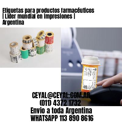 Etiquetas para productos farmacéuticos   Líder mundial en impresiones   Argentina