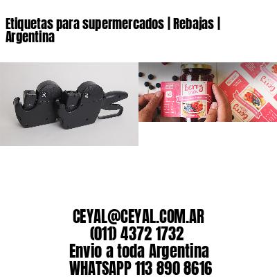 Etiquetas para supermercados   Rebajas   Argentina