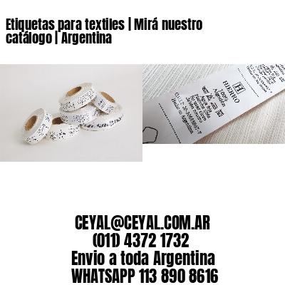 Etiquetas para textiles | Mirá nuestro catálogo | Argentina