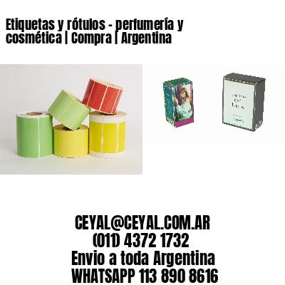 Etiquetas y rótulos - perfumería y cosmética   Compra   Argentina