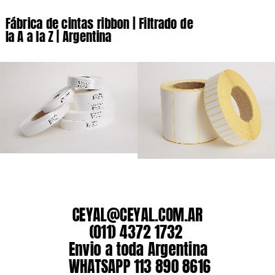 Fábrica de cintas ribbon   Filtrado de la A a la Z   Argentina