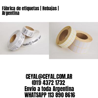 Fábrica de etiquetas   Rebajas   Argentina