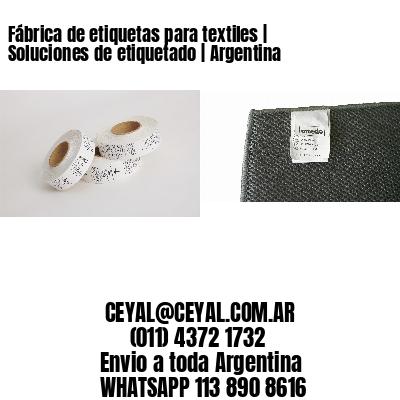 Fábrica de etiquetas para textiles   Soluciones de etiquetado   Argentina