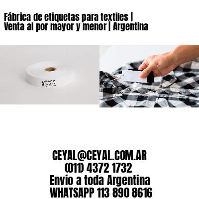 Fábrica de etiquetas para textiles   Venta al por mayor y menor   Argentina