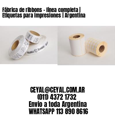 Fábrica de ribbons - línea completa   Etiquetas para impresiones   Argentina