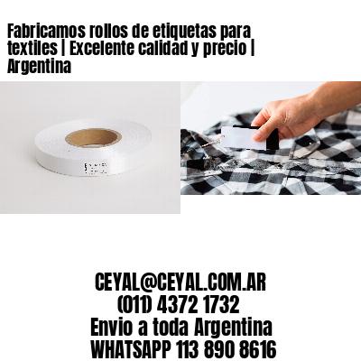 Fabricamos rollos de etiquetas para textiles   Excelente calidad y precio   Argentina