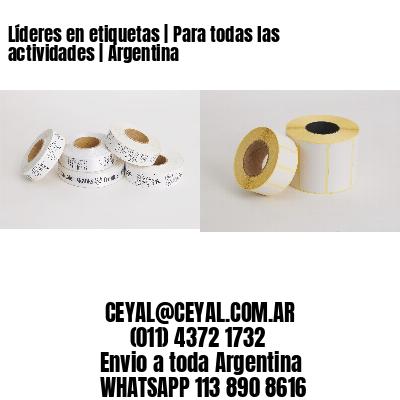 Líderes en etiquetas | Para todas las actividades | Argentina