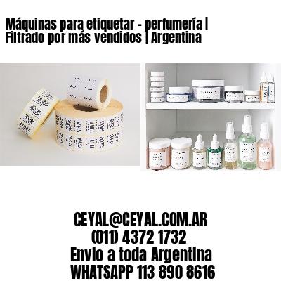 Máquinas para etiquetar - perfumería | Filtrado por más vendidos | Argentina