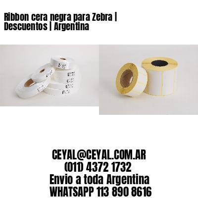 Ribbon cera negra para Zebra   Descuentos   Argentina