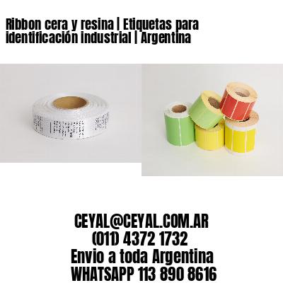 Ribbon cera y resina | Etiquetas para identificación industrial | Argentina