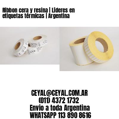 Ribbon cera y resina   Líderes en etiquetas térmicas   Argentina