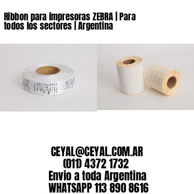 Ribbon para impresoras ZEBRA   Para todos los sectores   Argentina