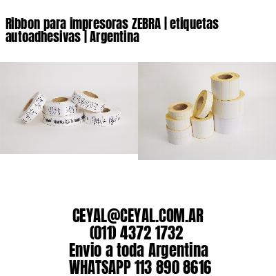 Ribbon para impresoras ZEBRA   etiquetas autoadhesivas   Argentina