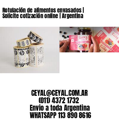 Rotulación de alimentos envasados   Solicite cotización online   Argentina