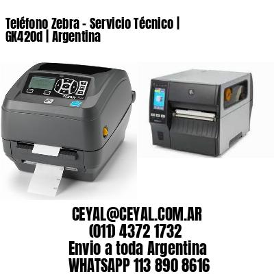 Teléfono Zebra - Servicio Técnico   GK420d   Argentina