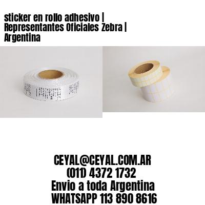 sticker en rollo adhesivo   Representantes Oficiales Zebra   Argentina