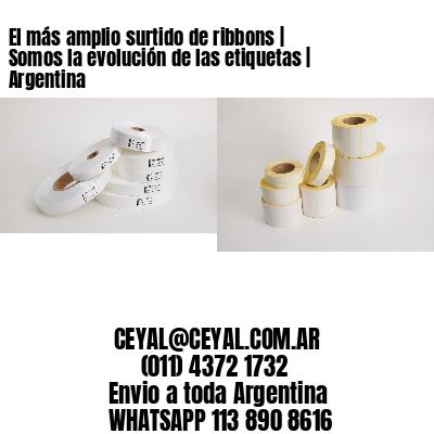 El más amplio surtido de ribbons   Somos la evolución de las etiquetas   Argentina
