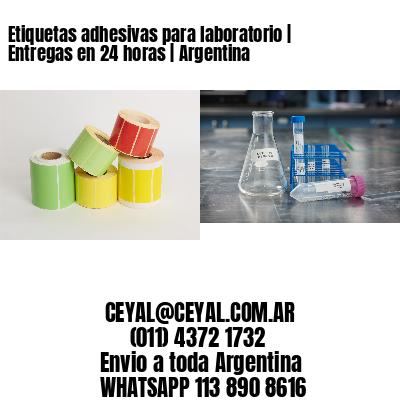 Etiquetas adhesivas para laboratorio   Entregas en 24 horas   Argentina